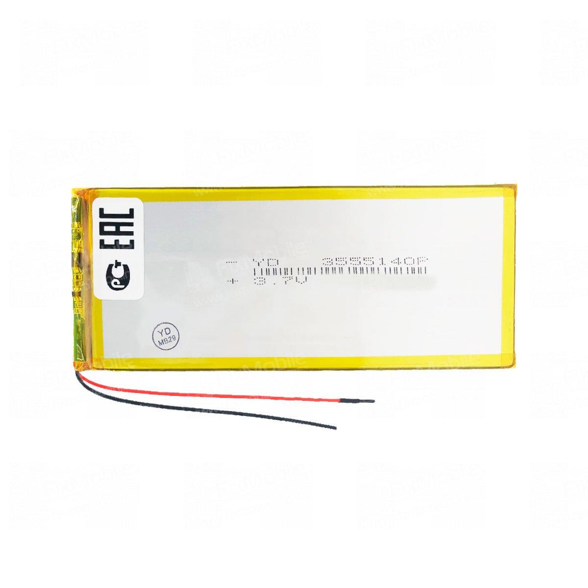 Аккумуляторная батарея универсальная 3555140p 3,7V 4500 mAh (3.5*55*140 мм)
