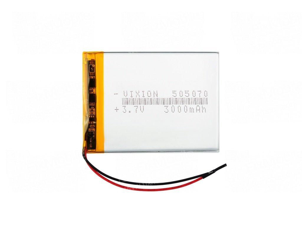 Аккумуляторная батарея универсальная 505070p 3,7V 3000 mAh (5*50*70 мм)