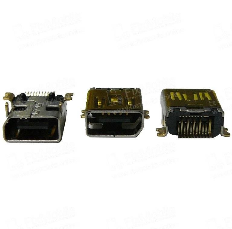 Системный разъем для HTC S620 (miniUSB)