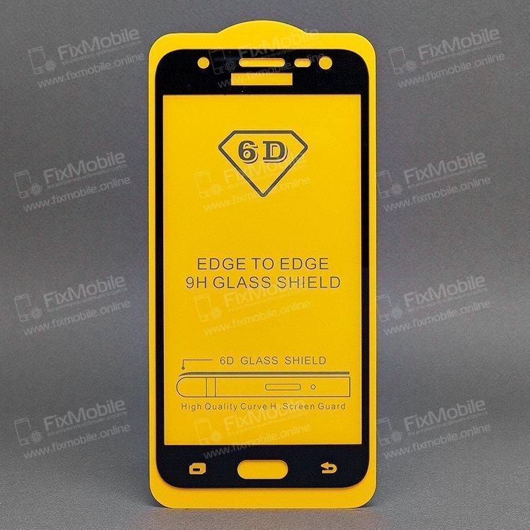 Защитное стекло для Samsung J320F (полное покрытие)(черное)