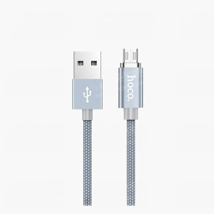 Кабель HOCO U40A Magnetic micro USB-USB (серый)