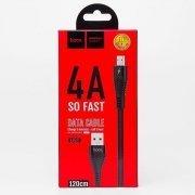 Кабель HOCO U53 Flash (USB - micro-USB) черный — 3