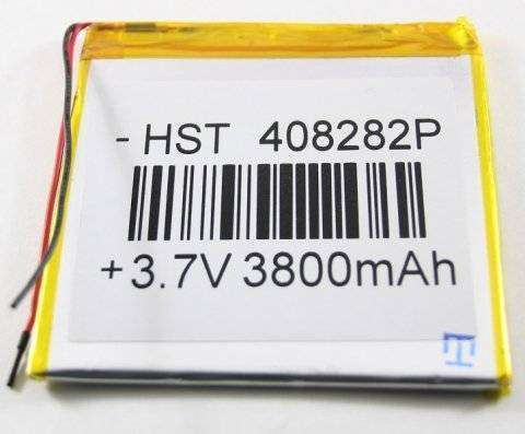 Аккумуляторная батарея универсальная 408282p 3,7v 3800 mAh 4*82*82 mm