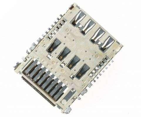 Коннектор SIM+MMC для LG H818