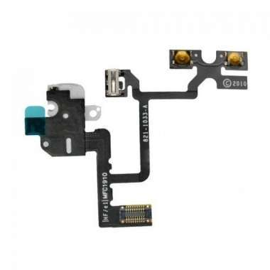 Шлейф для Apple iPhone 4 на разъем гарнитуры черный
