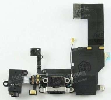 Шлейф для Apple iPhone 5C на системный разъем/разъем гарнитуры/ми...