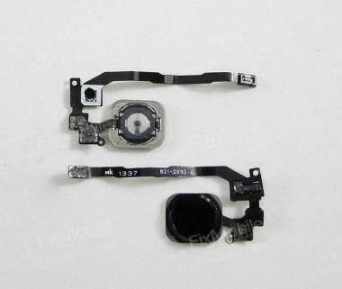 Шлейф для Apple iPhone 5S на кнопку HOME в сборе черный