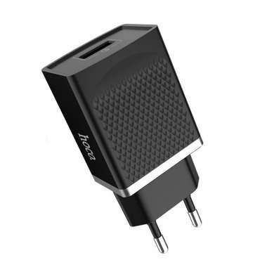 Сетевое зарядное устройство HOCO C42A 2.4A USB (черное) — 4