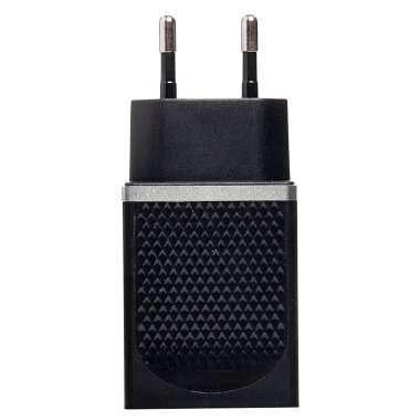 Сетевое зарядное устройство HOCO C42A 2.4A USB (черное) — 1